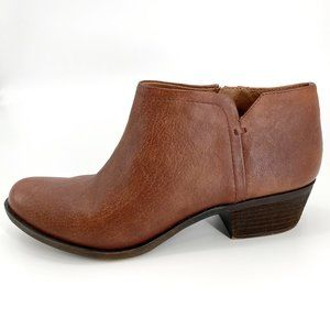 Lucky Brand Bardon Brown Leather 9.5 Ankle Booties